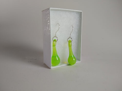 Slyme Green Drop Earrings