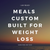 Weight Loss - Custom Built Plan (4 Weeks Pre Paid)