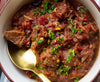 (Not your Moms) Beef Stew w/Horseradish Chive Cream