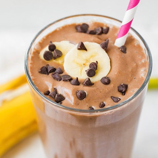 VEGAN Chocolate Peanut Butter Protein Smoothie