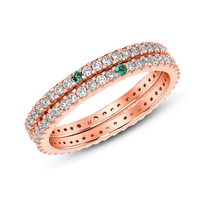 Eternity Ring Set of Two