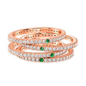 Eternity Ring Set of Four