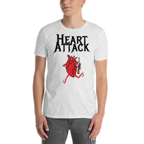 HEART ATTACK (gun) Short-Sleeve Unisex T-Shirt