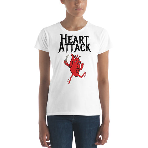 HEART ATTACK (KNIFE) Women's short sleeve t-shirt