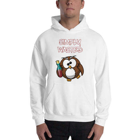 SIMPLY WASTED (owl) Hooded Sweatshirt