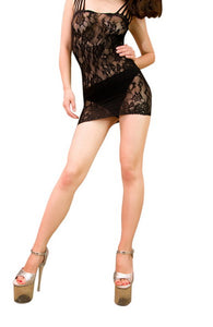 Blancho Se-214 Sexy Black Lace Babydoll Lingerie Set