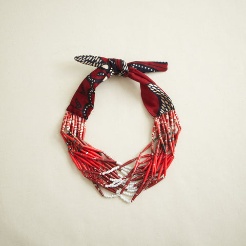 Swazi Fabric Necklace