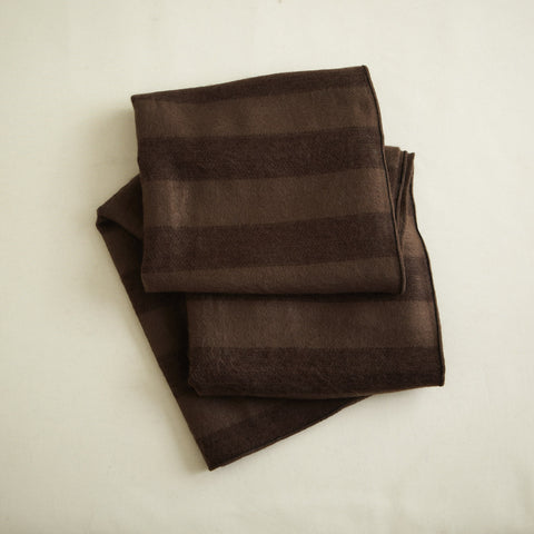 Rosewood Striped Alpaca Throw
