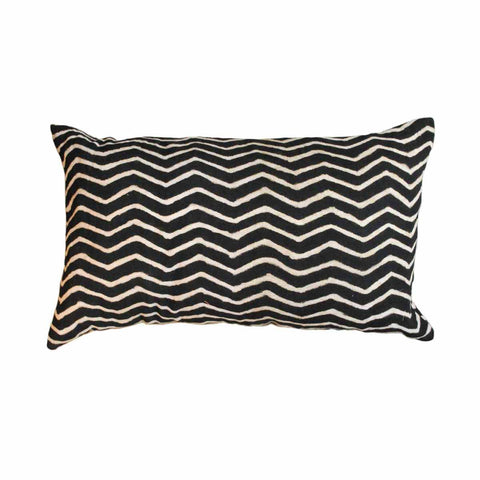 Black Zig Zag Pillow