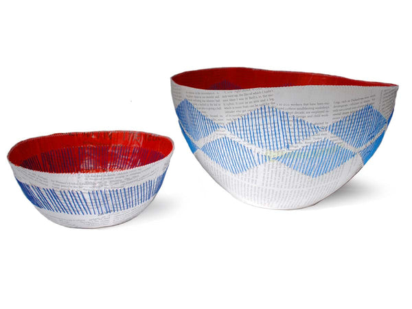 Red Berry Stitched Bowl