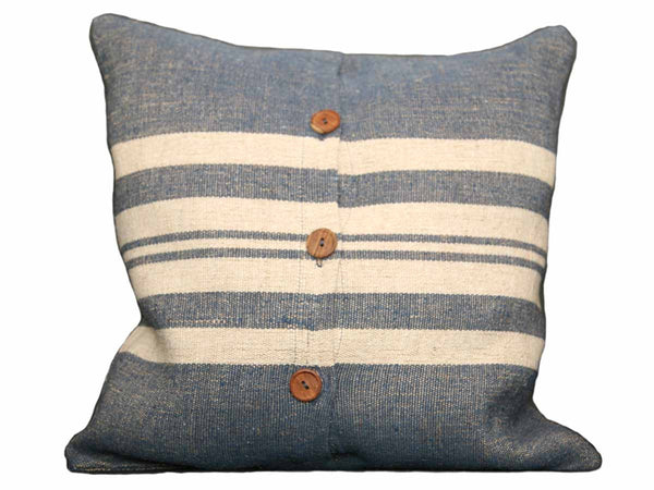 Blue Rustic Linen Pillow Cover