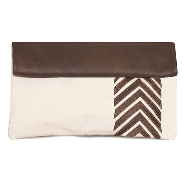 Arrow Leather Clutch