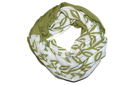 Green Leaf Batik Scarf