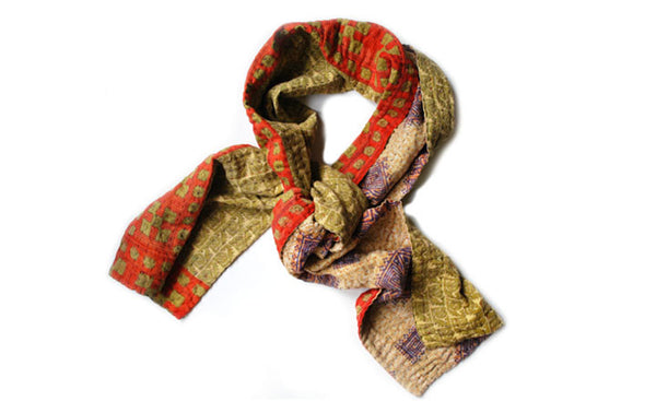 Holly Graphic Kantha Scarf