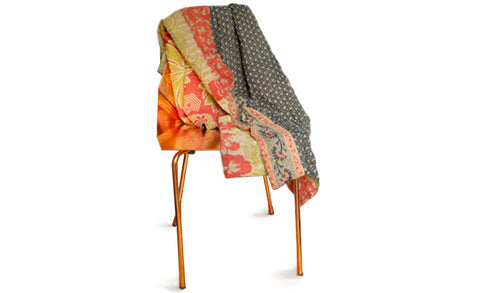 Garden Patterned Kantha Throw