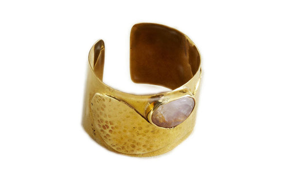 Bullet and Stone Bangle