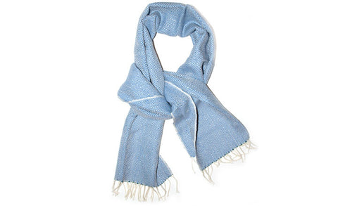 Powder Blue Diamante Scarf