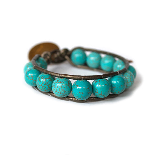 Fortuna Turquoise Beaded Bracelet