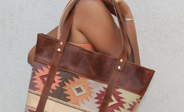 Comalapa Leather Tote