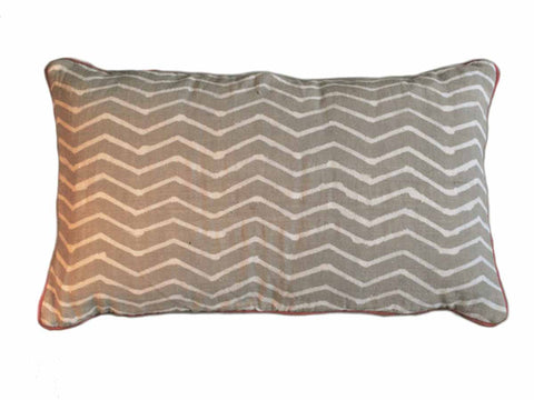Gray Zig Zag Pillow