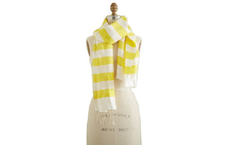 Yellow Striped Scarf