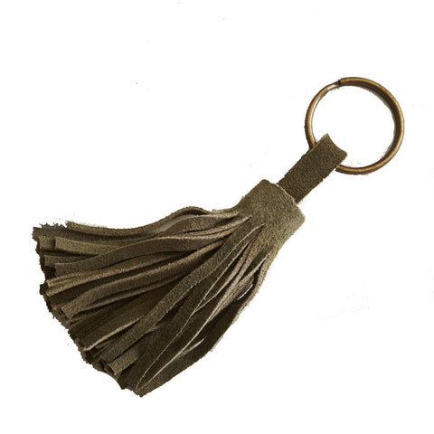 Burnished Tassel Key Ring