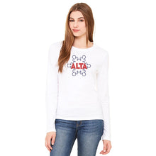Load image into Gallery viewer, Women's Outline Flake Long Sleeve T-shirt