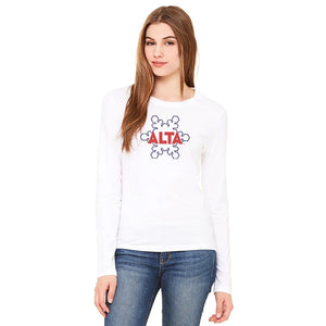 Women's Outline Flake Long Sleeve T-shirt