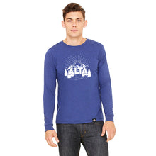 Load image into Gallery viewer, Rising Flake Design Long Sleeve T-shirt