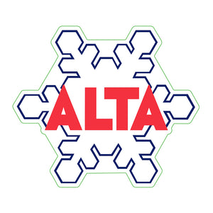 Large Alta snowflake Decal