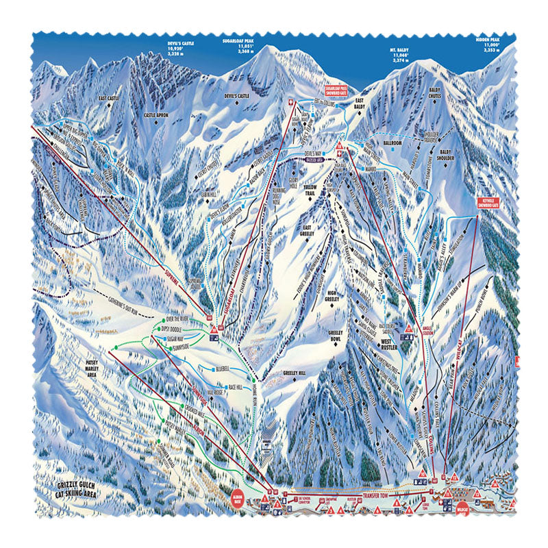 Alta Ski Area Microfiber Cloth