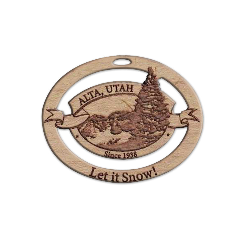Solid Wood Alta Holiday Ornaments