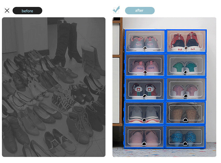 Drop Front Transparent Shoe Storage Boxes - COLLEX™