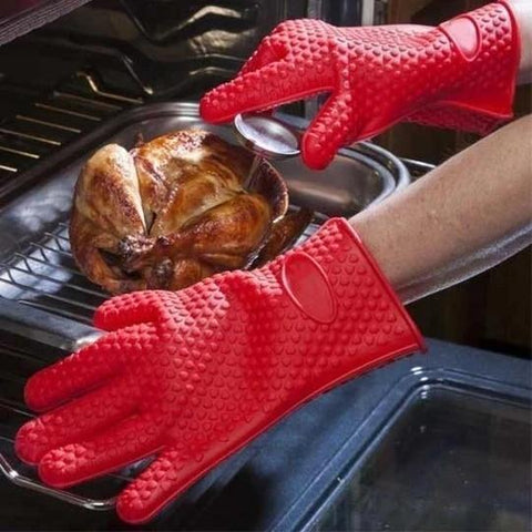 Silicone Oven Gloves With Finger