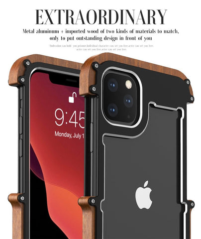 Protective Wood iPhone 11 Pro Max Bumper Case