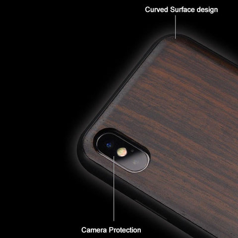 Black Wooden iPhone 11 Pro Max Silicone Case