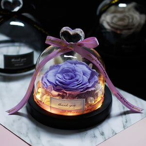 Preserved Roses In Glass Dome - vishmall.com