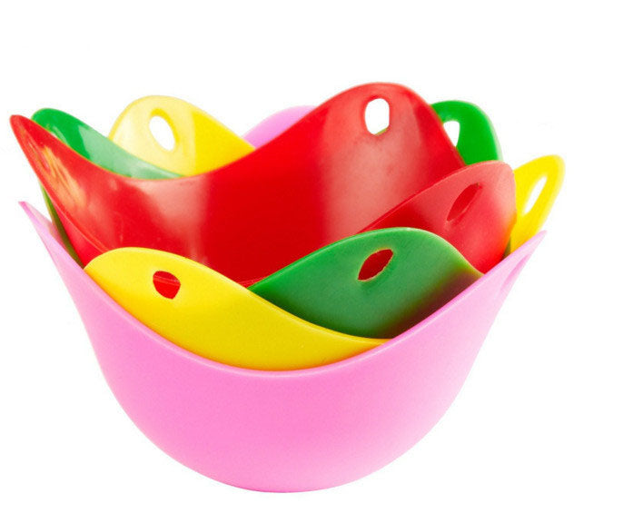 (4pcs Set) Egg Poaching Cups Silicone - vishmall.com