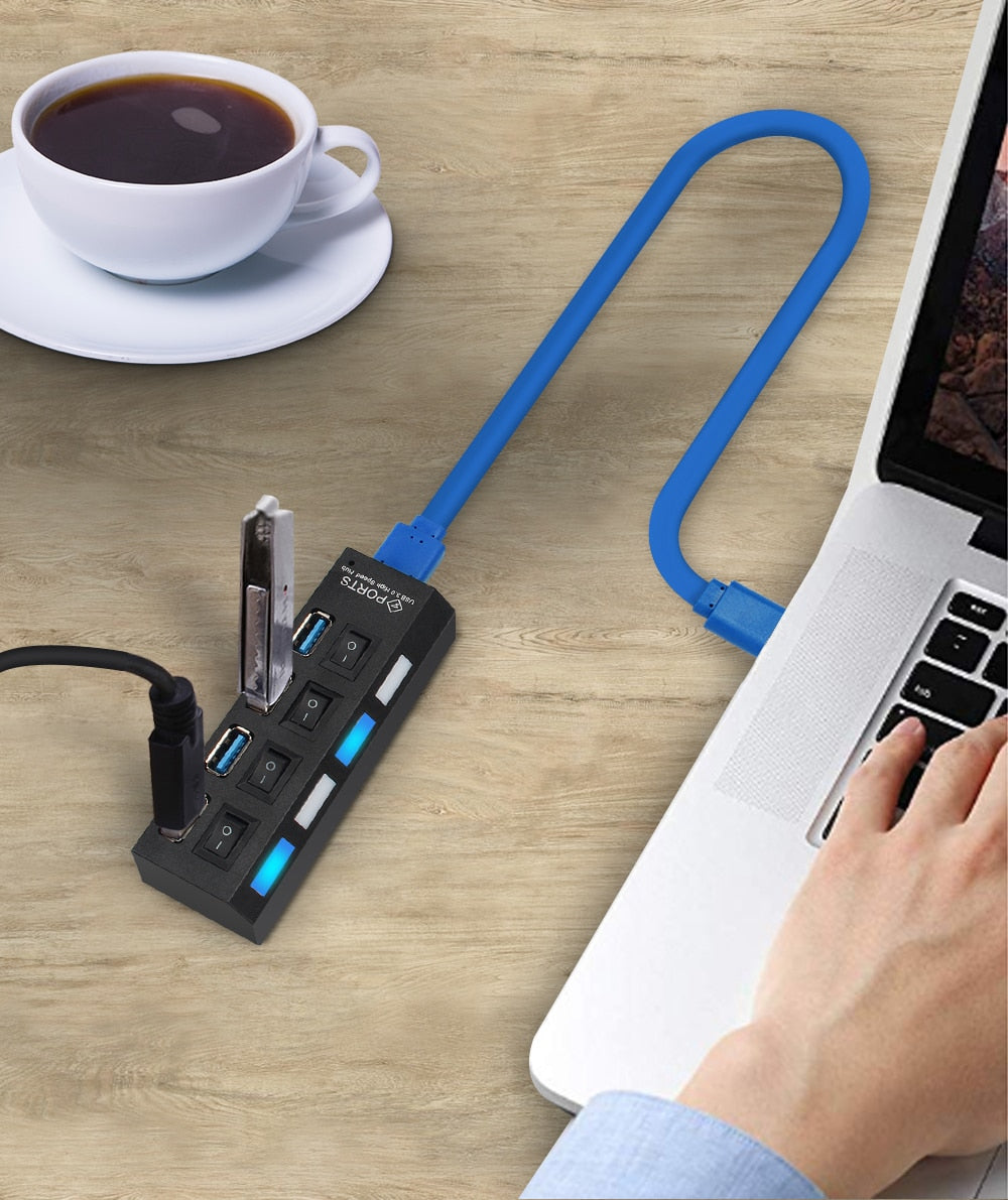AiCase™ Multi Port USB Hub 3.0 with Adapter - vishmall.com