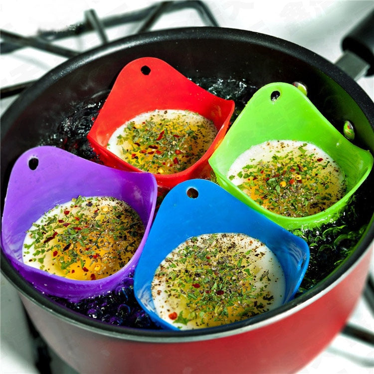 Egg Poaching Cups Silicone (4pcs Set) - vishmall.com