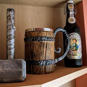 Viking Beer Mug Wood - vishmall.com