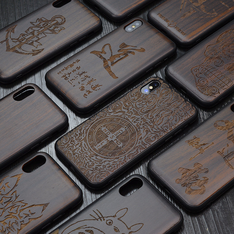 Black Wooden iPhone 11 Pro Max Silicone Case - vishmall.com
