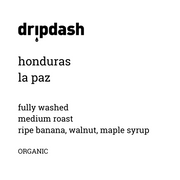honduras la paz ORGANIC/FAIR TRADE [16 oz/1 lbs] - dripdash