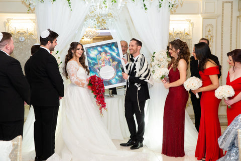 Asya and Garry with Anna Abramzon Ketubah