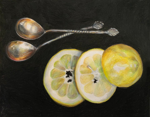 Waltz with Lemons by Anna Abramzon, Colored Pencil on Paper