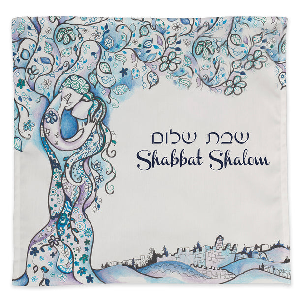 Jerusalem Love Tree Challah Cover - Anna Abramzon Studio