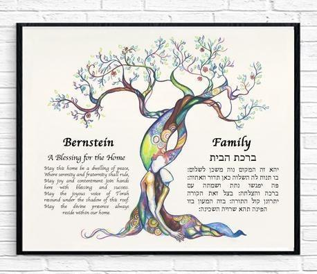 Love Tree Customized Blessing for the Home - Anna Abramzon Studio