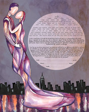New York Love Ketubah - Anna Abramzon Studio