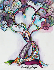 Heart Tree of Life Wedding Guest Book Alternative - Anna Abramzon Studio