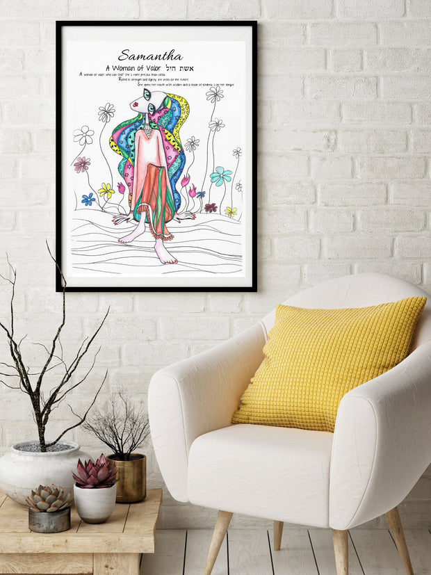 Woman of Valor Art Print - Anna Abramzon Studio